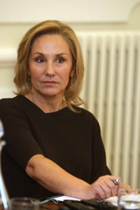 María Cecilia Morel Montes, primera dama de Chile. Triste.